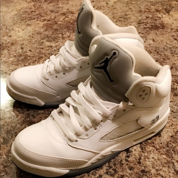 promo code 6c7a3 4a6f7 Air Jordan Retro 5 'Metallic White'
